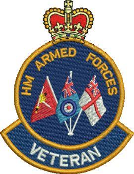 HM Armd Forces Tri Flag Badge
